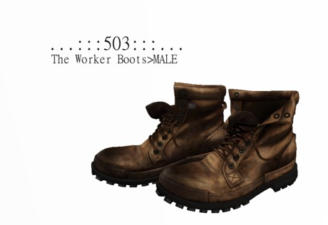 ...:::503:::...The Worker Boots>MALE