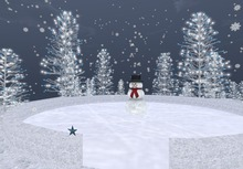 DEMO: Emma's Twinkly Snowy Forest Ice Rink - 9 LI / 11 prims - 24 x 24 m - ice skating for 1 or 2 - snow walk sound