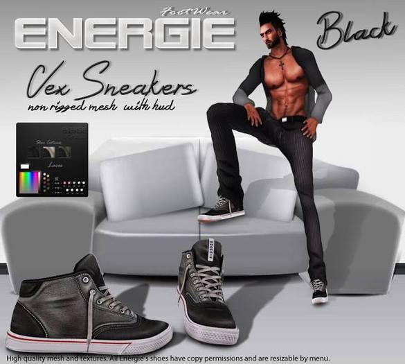 ..::Energie::.. Vex Sneakers  Black Bag
