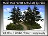 Mesh Pine Forest Scene (2)by Felix 21 Prim=20x20m Size copy-mod