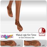 [Kokolores]BP-Mehndi Style foot tattoo for Slink AvEnhance Feet!