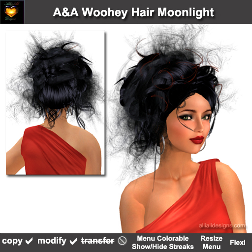 A&A Woohey Hair Moonlight (Special Color). Womens wild updo with flexi curls. Promo Price!