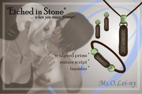 """Ms.O.Lei-ny™ """"Etched in Stone"""" (English """"always & forever"""") female set"""