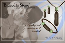 "Ms.O.Lei-ny™ ""Etched in Stone"" (English ""always & forever"") female set"