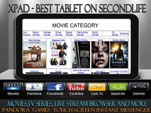 XPAD TABLET (Black) (MOVIES, TV SERIES , LIVESTREAM AND MORE)