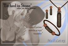 "Ms.O.Lei-ny™ ""Etched in Stone"" (English ""i love you"") female set"