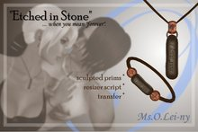 "Ms.O.Lei-ny™ ""Etched in Stone"" (English ""i love you"") male set"