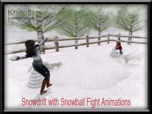 SNOWDRIFT WITH SNOWBALL FIGHT ANIMATIONS - MESH - MENU DRIVEN ANIMATION CHANGE