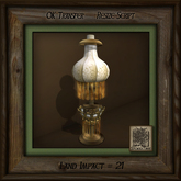 Antique Table Lamp Amber Diamond