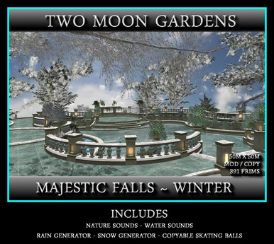 MAJESTIC FALLS IN WINTER - 50M X 50M INSTANT GARDEN - VENUE*