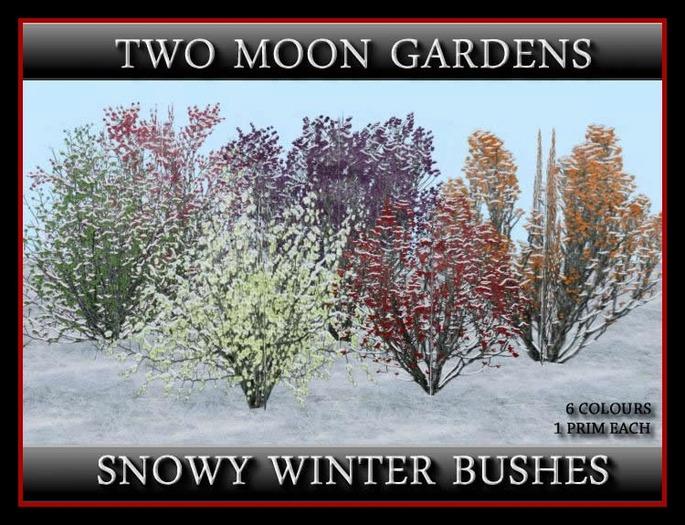 SNOWY WINTER BUSHES - 100% MESH