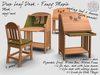 R(S)W Drop Leaf Desk - Fancy Maple