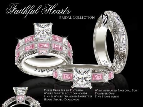 Second Life Marketplace Exquisite Faithful Hearts Bridal Set