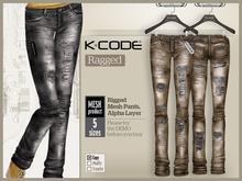 K-CODE RAGGED 6 Mesh Pants