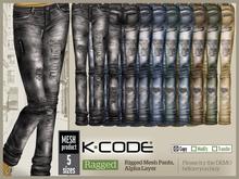 K-CODE Ragged - Rigged Mesh Pants FATPACK