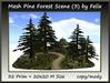 Mesh Pine Forest Scene (3)by Felix 32 Prim=20x20m Size copy-mod
