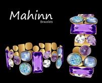 Mahinn  Bracelets Purple