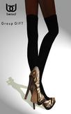 BeloD -  Mesh Stilettos with Tights PYTHON (wear) Group GIFT