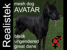 Realistek Mesh Dog Avatar - Dane black ung (boxed)