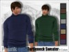 [Phunk] Mesh Men's Turtleneck Sweater w/HUD (8 Colors)