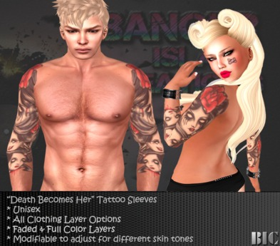 <BIC> Death Becomes Her Tattoo Sleeves (Unisex)