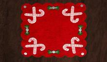 Candy Cane Rug or Tree Skirt