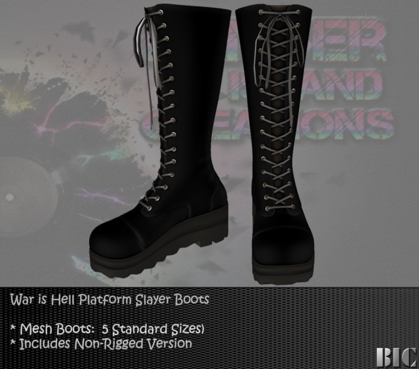 <BIC> War is Hell Boots (MESH):  DEMO