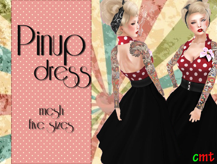 Lumiere Pinup Dress Red/Black