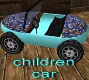 full perm children car blue animated