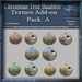 Texture Add-on A For Christmas Tree Baubles V1 Mesh Pack, Christmas Holiday Builders Decoration Kit,Textures Full Perm