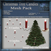 Christmas Tree Candles Mesh Pack, Christmas Holiday Builders Decoration Kit, Mesh & Textures Full Perm