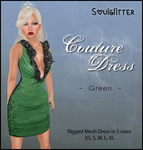 *Soulglitter* Couture Dress Green