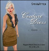*Soulglitter* Couture Dress Gold