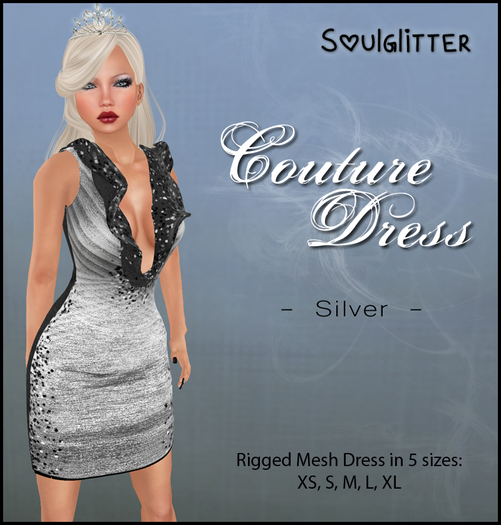 *Soulglitter* Couture Dress Silver