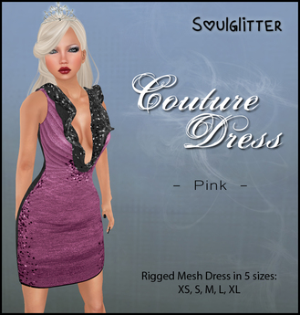*Soulglitter* Couture Dress Pink