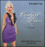 *Soulglitter* Couture Dress Violet