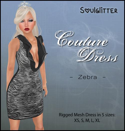 *Soulglitter* Couture Dress Zebra
