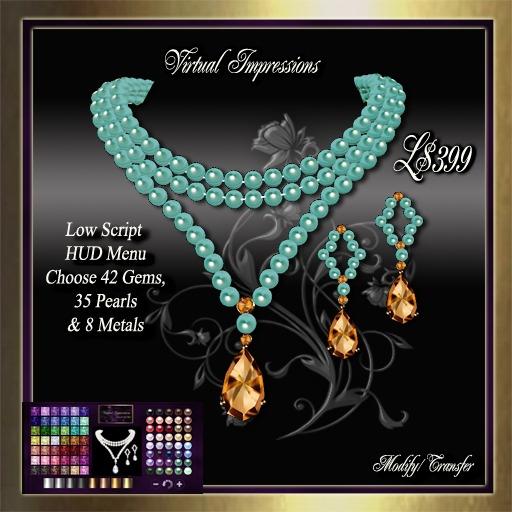 Virtual Impressions Theresa Texture Change Jewelry Set