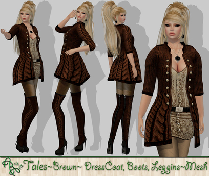 ***ArisAris AA12 Tales Outfit Brown