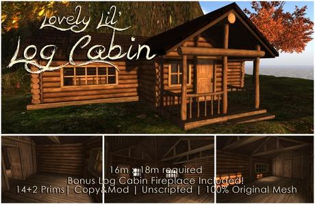 [DDD] Lovely Lil' Log Cabin & Fireplace