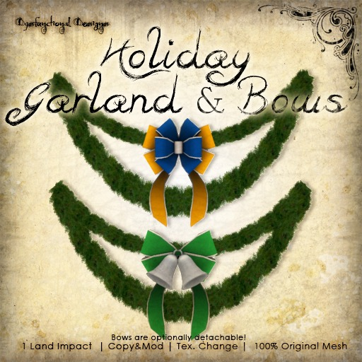 [DDD] Holiday Garland & Bows