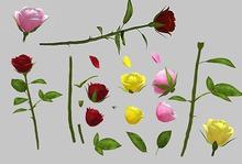 Single Roses Builders Kit - Mesh - Full Perm