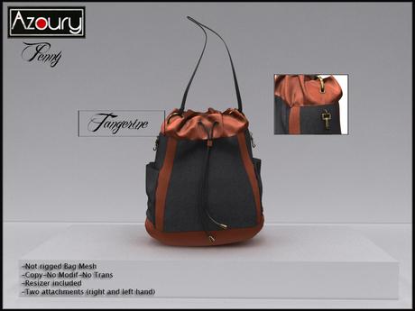 AZOURY - Penny Bag (Tangerine)