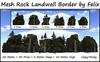 Mesh Rock Land Wall Border 50m=30 Prim=3m Deep=10m High copy-mo