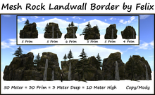 Mesh Rock Land Wall Border 50m=30 Prim=3m Deep=10m High copy-mo