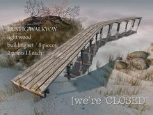 [we're CLOSED] rustic walkways light
