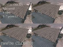 [we're CLOSED] rustic decks light