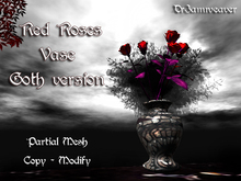 Dr3amweaver - Red Roses - Goth - in Vase (copy-mod)