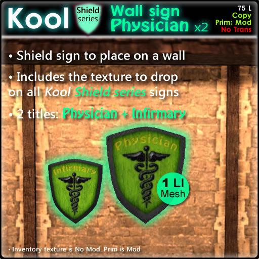 Kool Wall sign - Physician + Infirmary