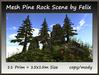 Mesh Pine Rock Scene 11 Prim=15x15m Size copy-mody